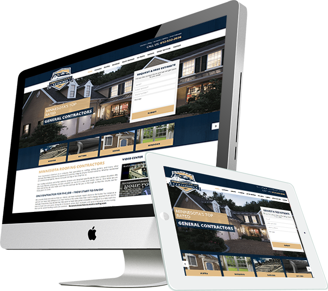 roofing web design