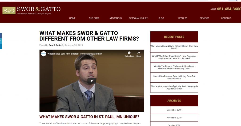 Law Firm Video Production in Minneapolis | Mankato Web Design